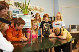 Kids playing Mindball play